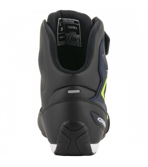 Alpinestars Faster-3 Black/Yellow Fluo/Blue Boot