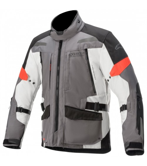 Alpinestars Valparaiso V3 Drystar Dark Gray/Light Gray/Red