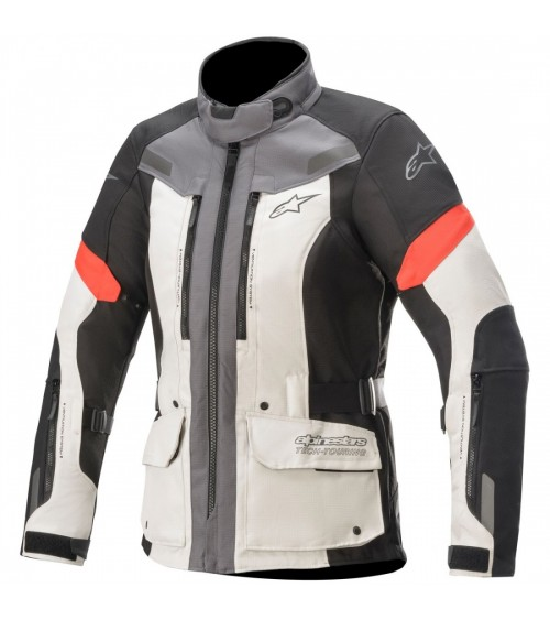 Alpinestars Stella Valparaiso V3 Drystar Lady Light Gray/Dark Gray/Red